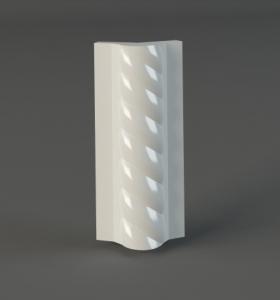 Угловой элемент декоративной изразцовой отделки