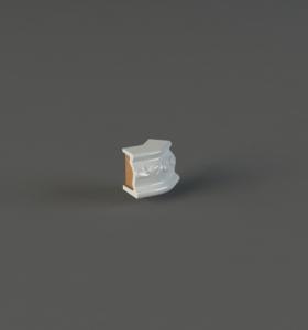 Небольшой элемент изразцовой отделки позволяющий выполнить отделку узкого пояса при повороте на 135 градусов