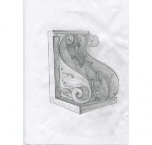 Прорисовка изразцового фрагмента