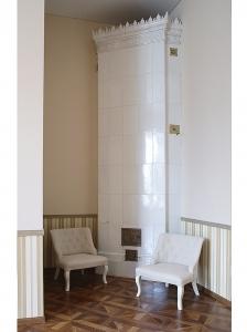 Печь 19 века (Особняк Хлебниковых). Реставрационные работы